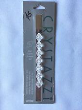 CRYSTAZZI Crystal Beads. Crystal, Oval. 7pc, 11 x 8mm. New Unused
