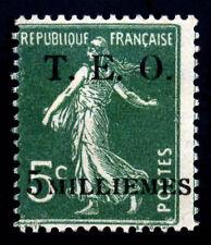 Syria. Syrie. T.E.O. 1919. 5m on 5c. Deep Green. SC# 5. MH. Sign