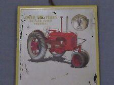 Vintage JI Case SC Tractor advertisng Wall Mirror MONROE Nebraska 1940's sign