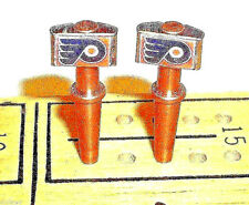 2 ea.Philadelphia Flyers Quality Metal Cribbage Pegs With Velvet Pouch. USA   a
