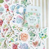 46x Porzellan Korean Japanisch Journal Papier Tagebuch Blume Aufkleber Sell L9M6