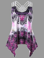 NEW LADIES PLUS SIZE BACK STRAPPY VEST STRETCHY LONG WOMENS TUNIC TOPS XL-5XL