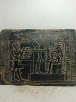 RARE ANTIQUE ANCIENT EGYPTIAN Stela Goddess Isis Nursing Son Horus 1525-1485 Bc
