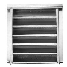 CMI Silver Rectangle 14-in x 24-in 229 sq ft Ventilation Area Steel Gable Vent