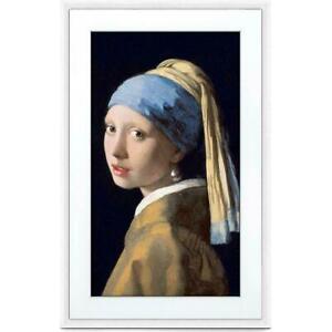 """Meural Canvas 27"""" HD Digital Canvas WiFi Frame, 29.5"""" x 19.2"""" Leonora White"""