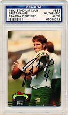 BRETT FAVRE 1992 Stadium Club #683 AUTOGRAPH PSA/DNA AUTO SIGNED Card Packers