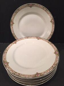 THEODORE HAVILAND LIMOGES SCHLEIGER 344 - 7 DINNER / LUNCHEON PLATES WITH BONUS