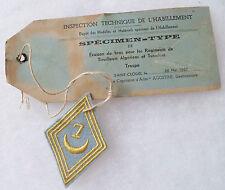 Insigne Tissu Patch Losange mod.1945 Spécimen Type 7° RTA TIRAILLEURS ALGERIENS