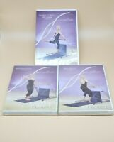 3 Fluidity Fitness Beginner Intermediate Advanced Video DVD Barre lot (2 NEW)
