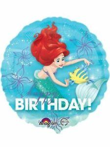 "Little mermaid Ariel  Big Happy Birthday 18"" Foil Balloon - Uninflated"