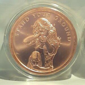 Stand Your Ground Silver Shield 2oz Copper .999 Round 2nd Amendment