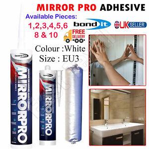 1-10x Bond it Mirror Pro Strength Ceramic & Glass Adhesive Glue Silicone Sealant