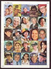 AUSTRALIA 2000 FACES OF AUSTRALIA SHEETLET.FINE USED