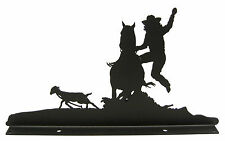 Goat Undressing Rodeo Roping Mailbox Topper Decor