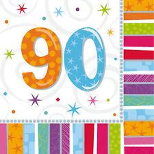 âge 90 ans Serviettes 90th vaisselle de fête anniversaire