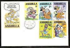 ANGUILLA # 434-43 DISNEY DAISY DUCK EASTER FDC's
