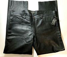Kookie Men's Leather Pants W46 Genuine Real Leather Motorcycle Biker Pants Moto