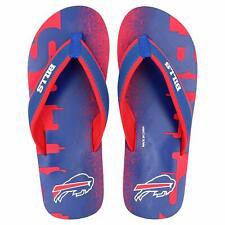 FOCO NFL Men's Buffalo Bills Contour Fade Wordmark Thong Sandals