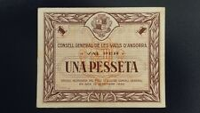GUERRA CIVIL. Billete 1 peseta ANDORRA.  EBC