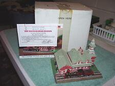 The Old Railroad Station Figurine Danbury Mint 1993 w/box and certif. Nice!
