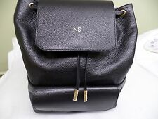 New Latest MON PURSE made in Europe Black leather  backpack pull string bucket