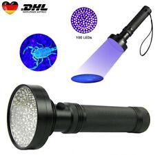 UV Taschenlampe 100 LED Handlampe Schwarzlicht 395nm Ultraviolett Licht Lampe