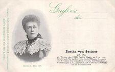 Bertha von Suttner, Schriftstellerin,  um 1900/05