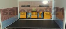 GARAGE KIT READY TO DISPLAY (2) BRICK/STONE+(1)TOOL BOXES WALLS D 1:24 Scale !
