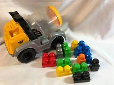 Mega Bloks Vintage CAT Cement Mixer Truck Construction with 14 MEGA BLOKS