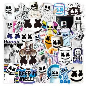 50PCS Marshmello DJ Music Sticker Lot laptop Luggage Skateboard Vinyl Bomb Decal