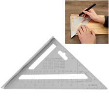 7inch Aluminum Alloy Measuring Right Angle Triangle NEW Ruler Woodworking Q6S5