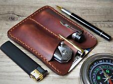EDC pocket organizer EDC wallet leather EDC organizer EDC pouch pocket knife