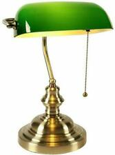 Banker Table Desk Lamp Pull Chain Switch Green Glass Shade Lampshade Cover Light