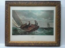 "Winslow Homer ""Breezing Up"" Lithograph Mid-60's National Gallery of Art"