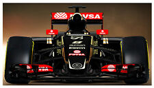 LOTUS E23 HYBRID FORMULA 1 LIFESIZE IMAGE ON QUALITY CANVAS 42 INCH X 74 INCH