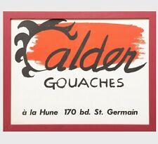 Alexander Calder (1898-1976) Lithographie Ausstellung Poster Gouches bei ein '