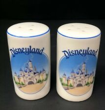 Vintage Disneyland Porcelain Salt & Pepper Shakers Disney Castle Made in Japan