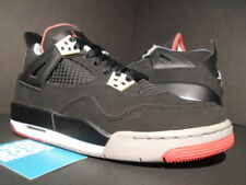 NIKE AIR JORDAN IV 4 RETRO GS OG BLACK CEMENT GREY FIRE RED WHITE 408452-089 5.5
