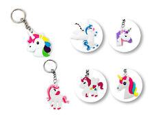 12pk Rainbow Unicorn Key Ring Keychains Party Favor Decoration Birthday Supplies
