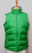 Lands' End women's green down filled warm duvet padded gilet bodywarmer vest S
