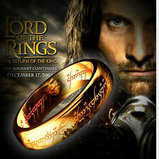Lord of The Rings * The Return of The King * Gold Stainless steel Ring (11)