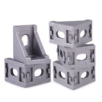 10pcs Aluminum Brace 90 Degree Double Side L Shape Corner Joint Bracket Angle