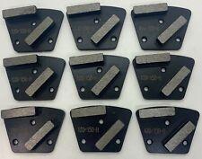 Concrete Grinding Diamonds Bolt On Trapezoid 120150 Hard Double Seg 9 Pack
