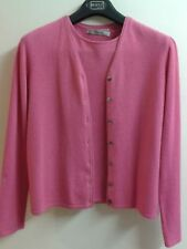 """*100% Cashmere* Twin Set """"Jessica By Christopher"""" 2 Pcs Pink Cardigan M / Top L"""
