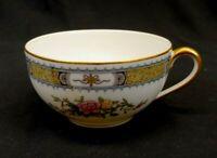 Noritake Pekin Fine China Tea Cup White Pink Blue Gold