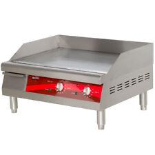 "Avantco EG24N 24"" Electric Countertop Commercial Stainless Griddle 208v / 240v"