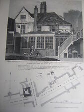 1813 - Engraving - Tottenham Court - Adam & Eve Tea House & Gardens