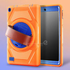 For Amazon Kindle Fire 7 2015 5th Gen Hand Strap Rotating Protective Case Cover