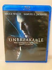 Unbreakable (Blu-ray Disc, 2008) No Digital Code Bruce Willis Samuel L Jackson