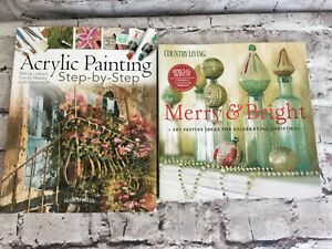 Acrylic Painting Step by Step Art Instruction and Merry & Bright Crafting Books
